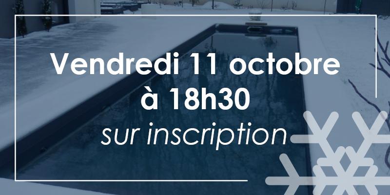 """Formation """"hivernage de votre piscine"""" dans votre agence de Aquilus de Valence sur inscription  le 11 octobre"""