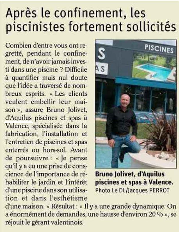 Article presse Dauphiné Libéré Aquilus Valence nouvelle devanture