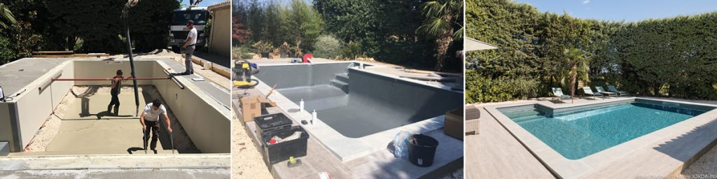 rénovation totale piscine étapes du chantier (suite)