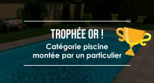 Trophée Or catégorie piscine montée par un particulier - aquilus valence